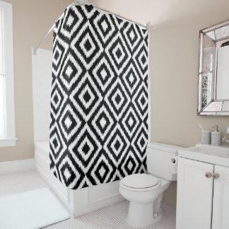 Cortina De Baño Modelo de mosaico blanco negro del cuadrado del