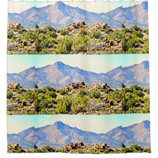 Cortina De Baño Montañas del desierto de Arizona/de la frontera de