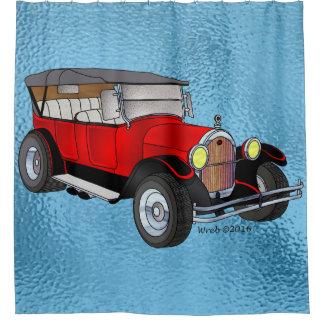 Cortina De Baño Olds 1923 que viaja - rojo
