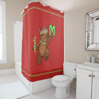 Cortina De Baño Personalizado real coronado joya del oso de