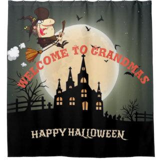Cortina De Baño Recepción del feliz Halloween a las abuelas