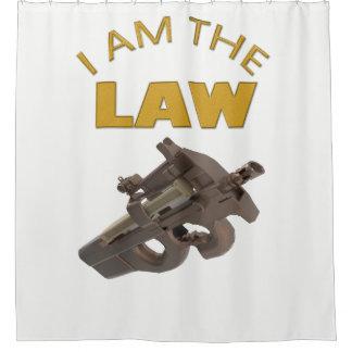 Cortina De Baño Soy la ley con una ametralladora m4a1