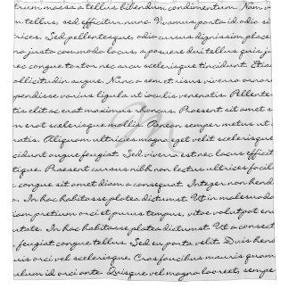 Cortina De Baño Texto de encargo elegante blanco y negro