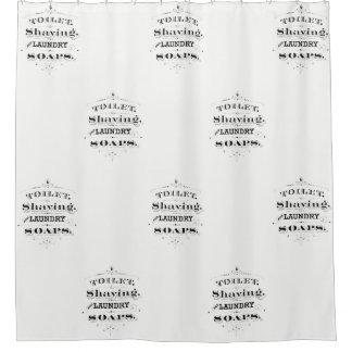 Cortina De Baño Tipografía grabada vintage del anuncio de los