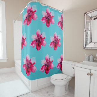 cortina de ducha adaptable subió acuarela
