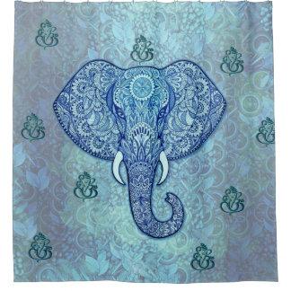 Cortina De Ducha Arte del señor-Ganesh-Elefante de la India