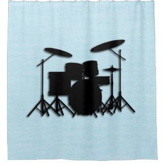 Cortina de ducha azul del diseño determinado de la
