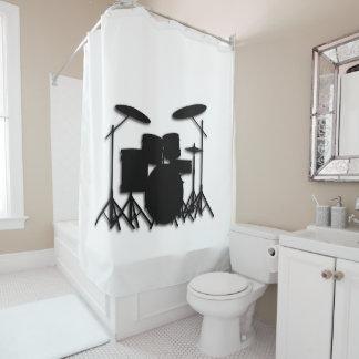Cortina de ducha blanca del diseño determinado de