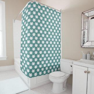 Cortina de ducha blanca principal del diseño de la