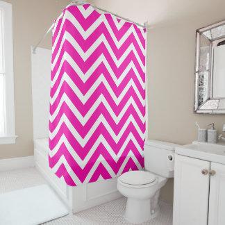 Cortina de ducha blanca rosada del galón