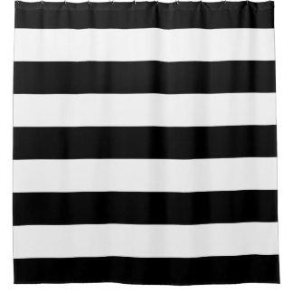 Cortina de ducha blanco y negro intrépida de las