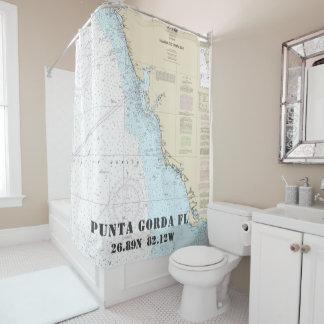 Cortina De Ducha Carta náutica de la longitud de la latitud de