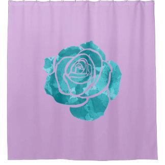 Cortina De Ducha Color de rosa azul en púrpura