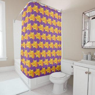 Cortina de ducha colorida del modelo púrpura y