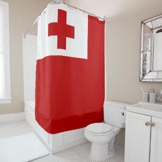 Cortina De Ducha Cruz Roja de la bandera de la isla de Tonga