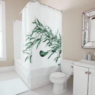 Cortina de ducha de bambú verde de Jitaku
