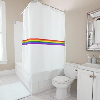Cortina de ducha de encargo del arco iris de la
