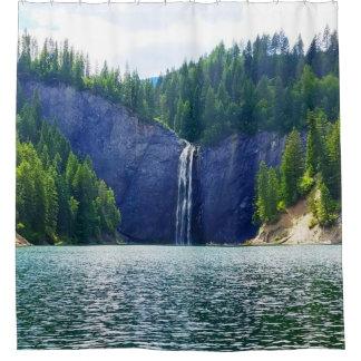 Cortina de ducha de la cascada