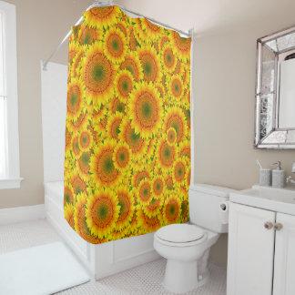 Cortina de ducha de la explosión del girasol