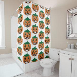 cortina de ducha de la Jack-O-Linterna del vintage