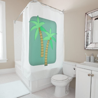 Cortina de ducha de la palmera
