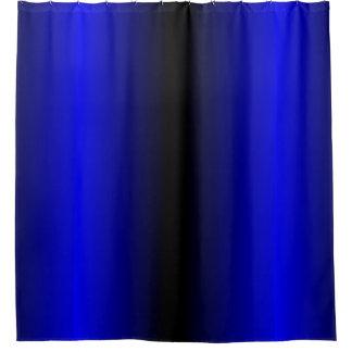 Cortina de ducha de la raya azul de cobalto