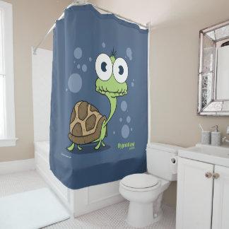 Cortina de ducha de la tortuga (azul marino BG)