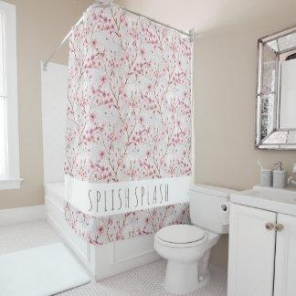 Cortina de ducha de las flores de cerezo