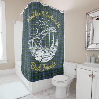 Cortina de ducha de los mejores amigos de Halifax