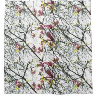 Cortina de ducha del cielo de la magnolia