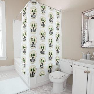 cortina de ducha del cráneo del vintage de los