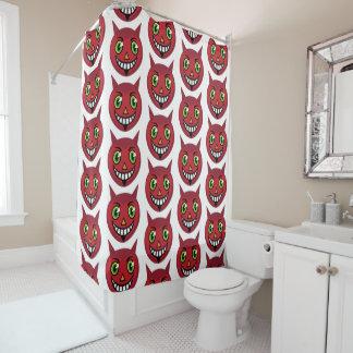 cortina de ducha del diablo del vintage de los