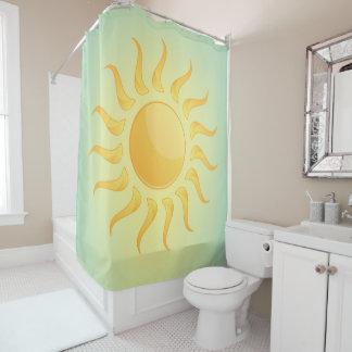 Cortina de ducha del diseño de la sol