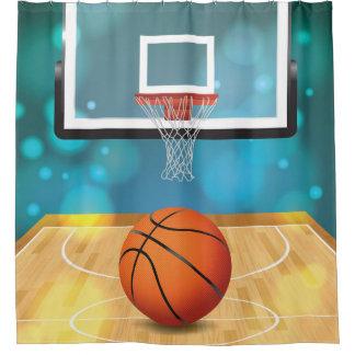 Cortina de ducha del diseño del baloncesto