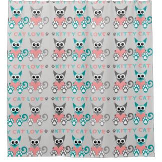 Cortina de ducha del gato del gatito