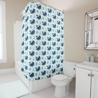 Cortina de ducha del modelo de la ballena