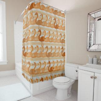Cortina de ducha del modelo del flamenco (naranja)
