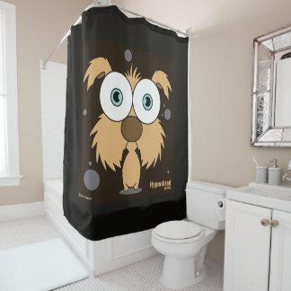 Cortina de ducha del perro (Brown, BG negra)