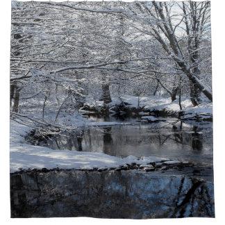 Cortina de ducha del río de Saco, New Hampshire