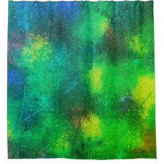 Cortina de ducha del verde del cojín de lirio