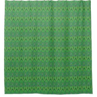Cortina de ducha del verde del monstruo de mar