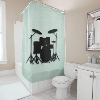 Cortina de ducha determinada del verde del diseño