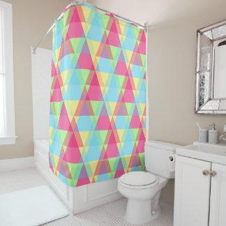 Cortina de ducha en colores pastel bonita de los