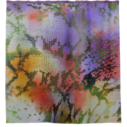 Cortina de ducha en colores pastel multicolora del