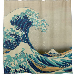 Cortina De Ducha Gran onda de Kanagawa