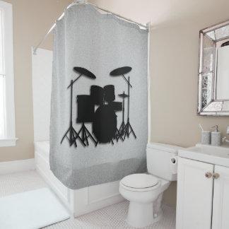 Cortina de ducha gris del diseño determinado de la