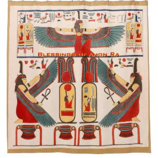 Cortina De Ducha Hieroglyphics de los Pharaohs - bendiciones del Ra