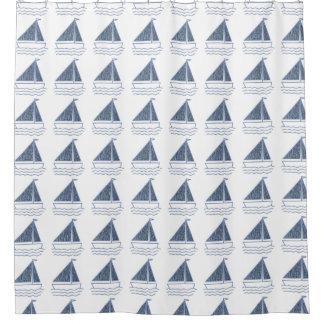Cortina De Ducha Los pequeños barcos