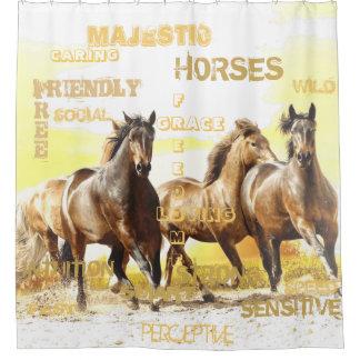 Cortina de ducha majestuosa de los caballos