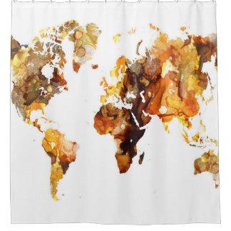 Cortina De Ducha Mapa del mundo del diseño 102